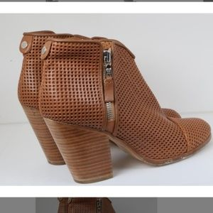 Rag and Bone Margot Perforated Leather Booties
